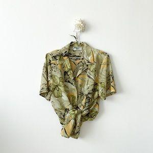 Summer Hawaiian Shirt Style Button-Up